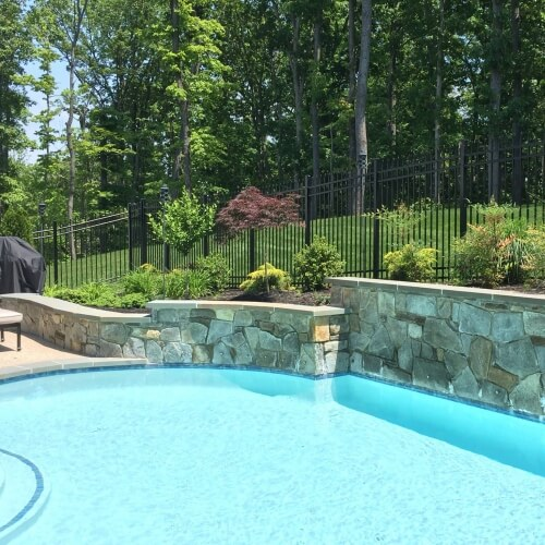 P2 northern virginia pool retaining wall landscaping 2 for Pool design hours