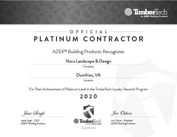 Virginia TimberTech AZEK Decking Contractor